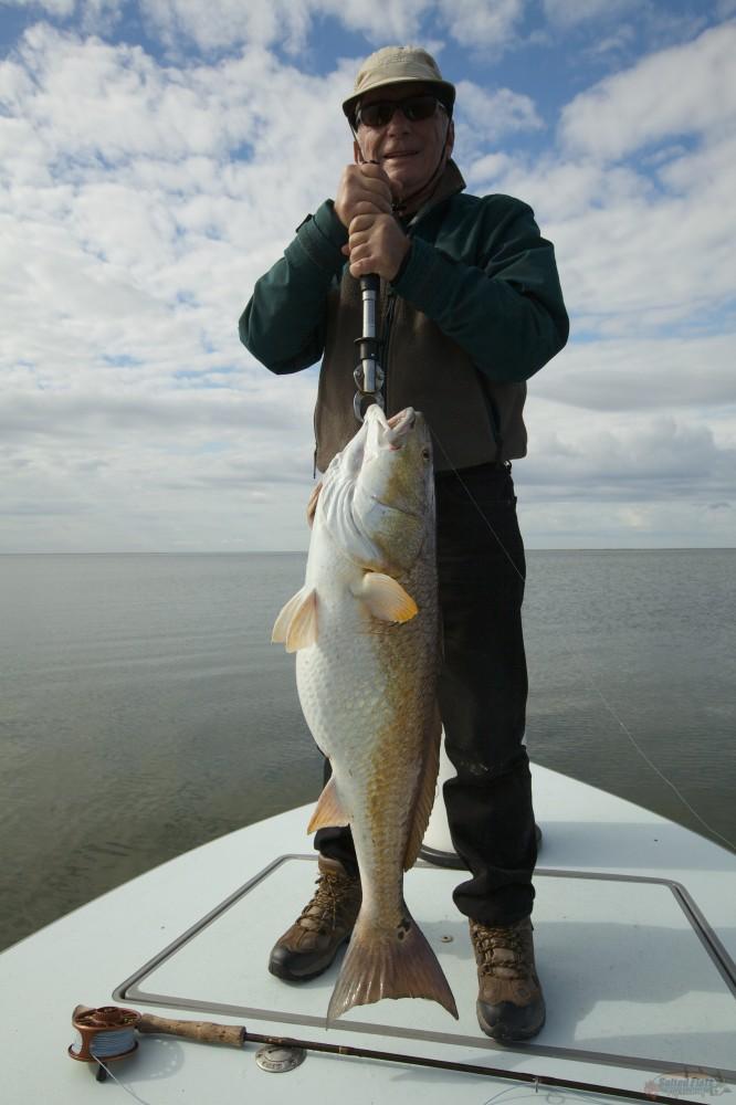 Redfish guide for Louisiana fly fishing