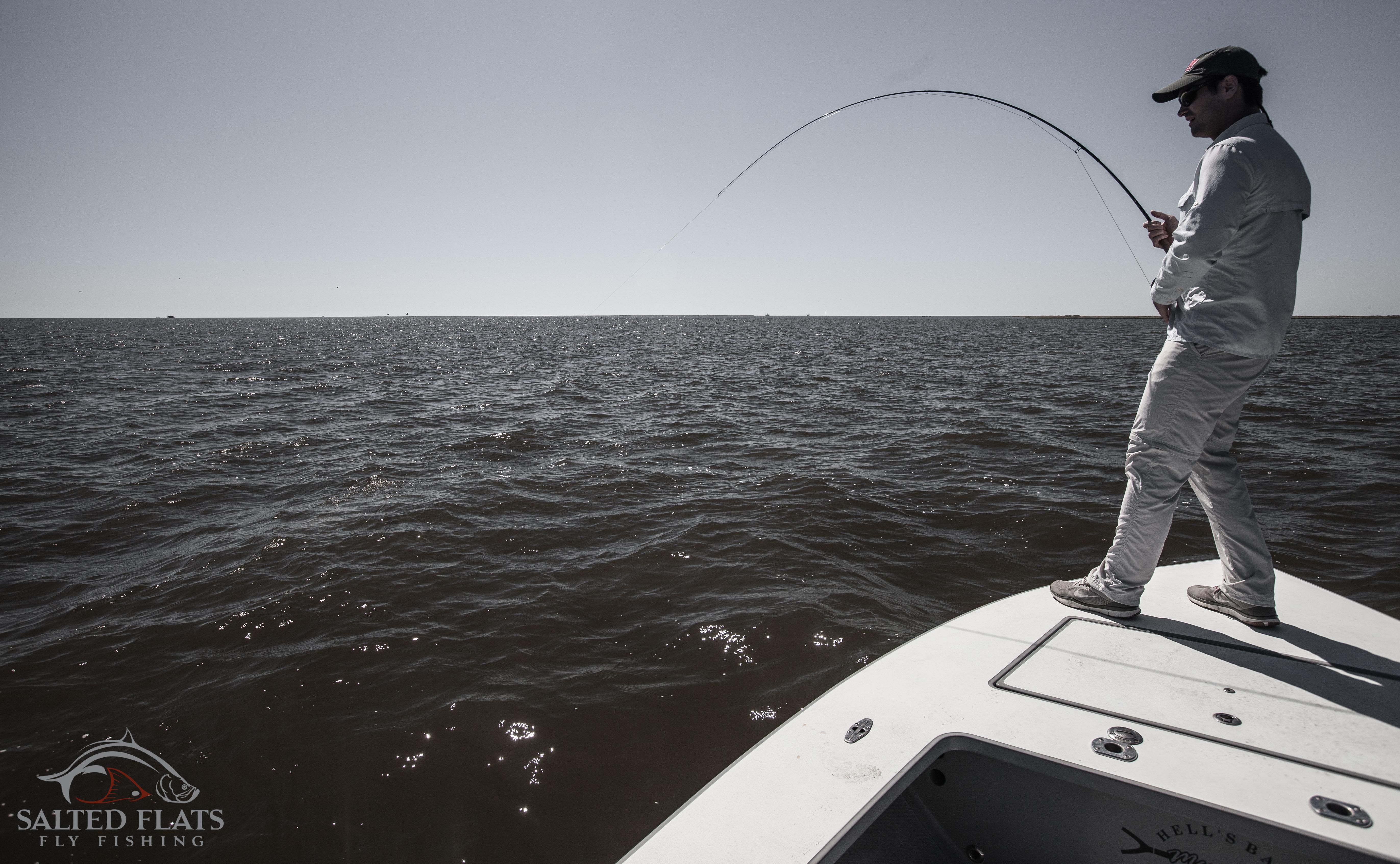 Louisiana Bull Redfish Fly Fishing